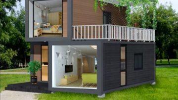 Case pe structura zincata sau structura containere